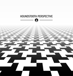 Houndstooth pattern perspective vector image