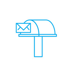 incoming correspondence linear icon concept vector image