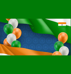 indian patriotic banner with space for text vector image