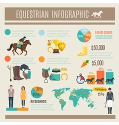 Infographic Equestrian vector