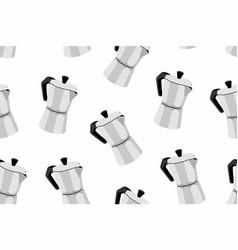 Italian espresso machine seamless pattern vector