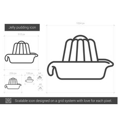Jelly pudding line icon vector