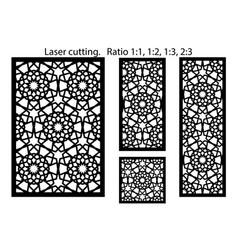 Lazer cut panel cnc decor pattern jali vector