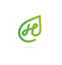 Letter n logo design template elements eco vector
