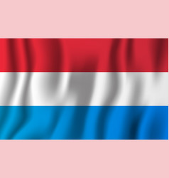 luxembourg realistic waving flag national vector image