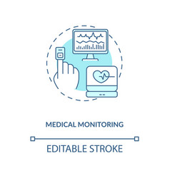 Medical monitoring concept icon vector