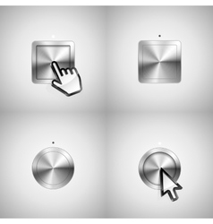 Metallic buttons vector image