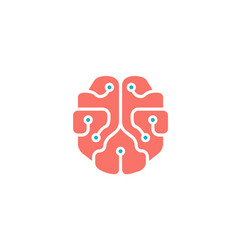 Mindset pinky brain technology wires symbol logo vector