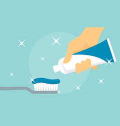 Mint toothpaste banner flat style vector