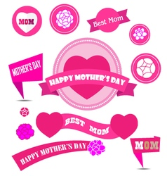 mother day decoration elements vector image