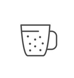 mug line icon vector image
