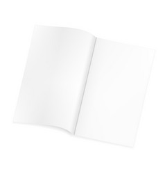 open blank magazine template on isolated white vector image