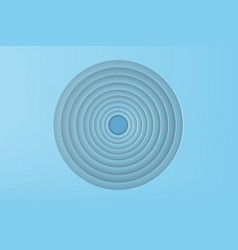 paper art of blue circle with shadow background vector image