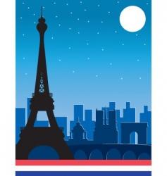 Paris at night vector image