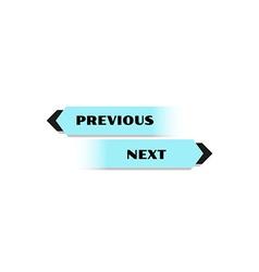 Previous and next button vector