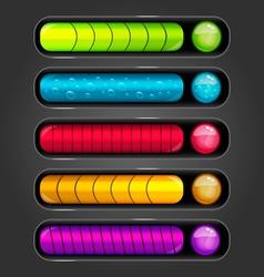 Progress bar for games vector