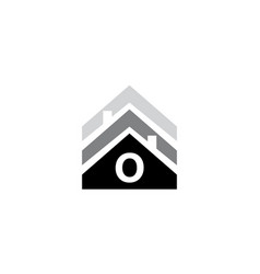 Real estate initial o vector