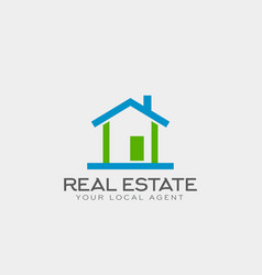real estate logo template design vector image