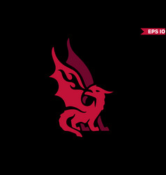 red dragon logo vector image