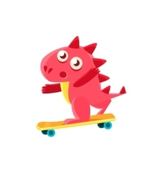 Red Dragon Skatebording vector