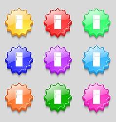 Refrigerator icon sign Symbols on nine wavy vector