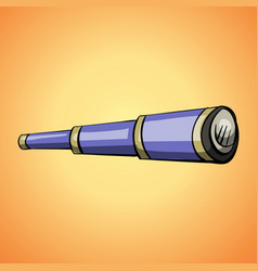 sea spyglass icon cartoon style vector image