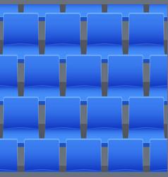 Seamless pattern stadium seats vector