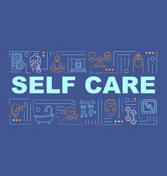 Self care word concepts banner vector