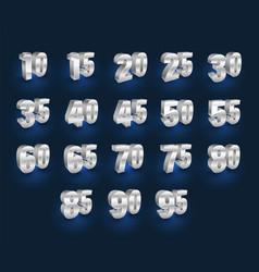 set of number 3d vector image