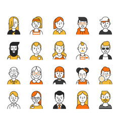 Set of various avatars for web projects vector