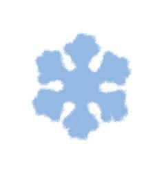 simple grunge snowflake vector image