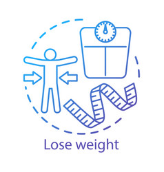 Slimming weight loss concept icon vegetarian vector