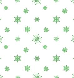 Snowflake pastel green white background vector