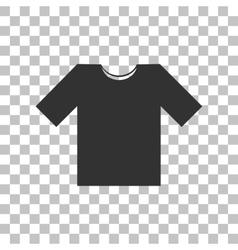 T-shirt sign Dark gray icon on vector image