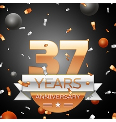 Thirty seven years anniversary celebration vector image