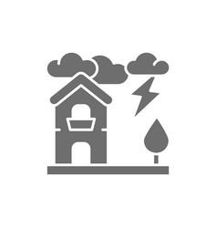 thunderstorm lightning natural disaster vector image