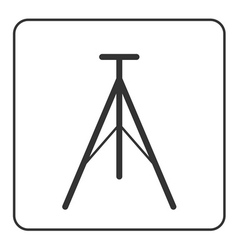 Tripod icon modern equipment vector