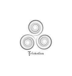 Triskelion or triskele symbol triple spiral celtic vector