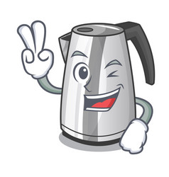 two finger plastic electric kettle isolated on vector image