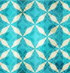Vintage blue mosaic star seamless vector