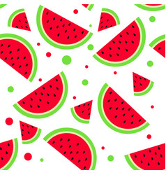 watermelon pattern summer bright background vector image