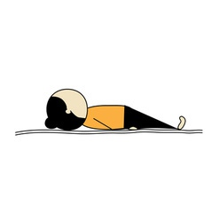 Woman practicing yoga shavasana vector