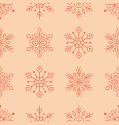 year seamless pattern red vector image