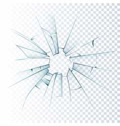 Broken frosted glass realistic icon vector