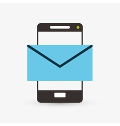 Email design envelope icon Isolated vector image