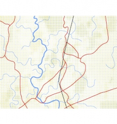 halftone map vector image vector image