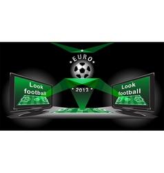 poster for advertising demonstration football vector image