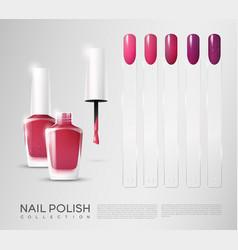 realistic cosmetic nail polish set vector image vector image