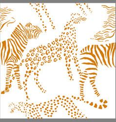 seamless pattern with savanna animals vector image