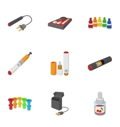 Tobacco icons set cartoon style vector image vector image
